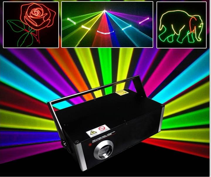 1000MW 3D RGB full color aniamtion Laser Light With SD Card laser light show with ishow software