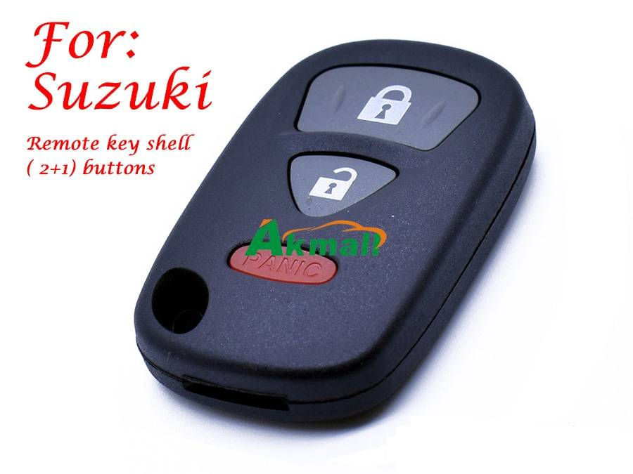 Auto Suzuki 3 buttons remote key shell