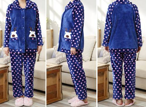 ladies' pajamas,women's pajamas,coral fleece pajamas