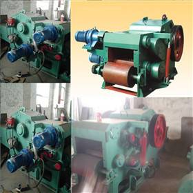 Multispindle drums wood chipper machine for board