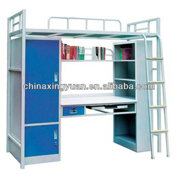 Favorable Price Utility Knock Down Structure Metal Student Bunk Bed