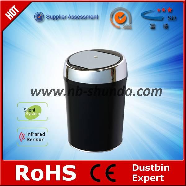 round automatic dustbin sliding rack for waste bin double trash bin