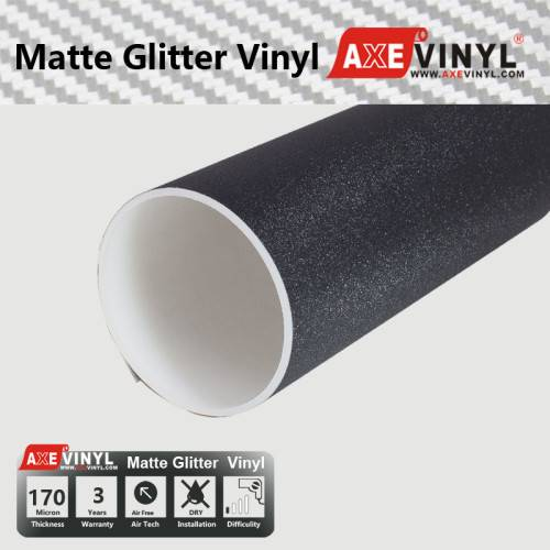 Axevinyl Factory Direct Sale Car Wrap Vinyl Premium Quality Matte Glitter Vinyl Wrap Film 1.52X30m