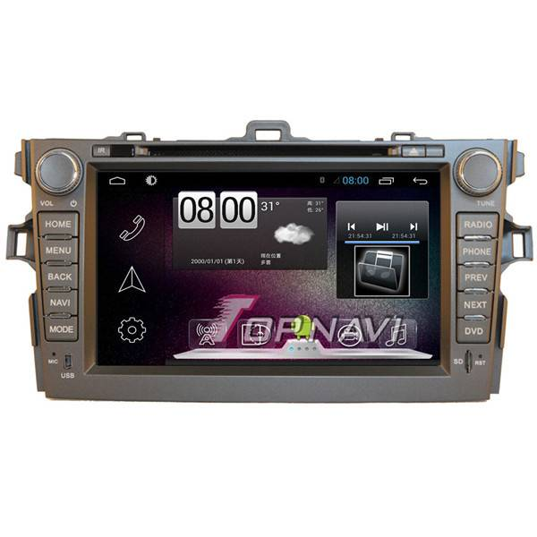 800*480 8inch Android 4.4 Car GPS Player For Toyata Corolla 2007-2011 Navigation