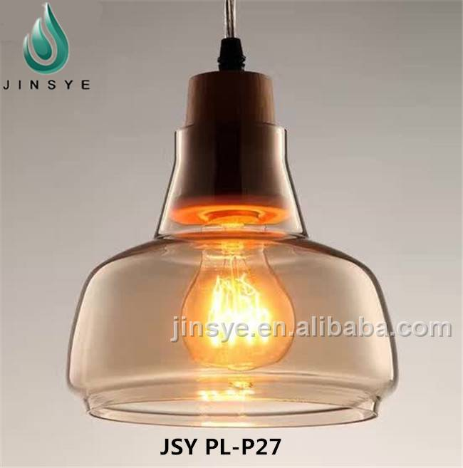 Vintage glass ball modern ceiling bedroom pendant lighting