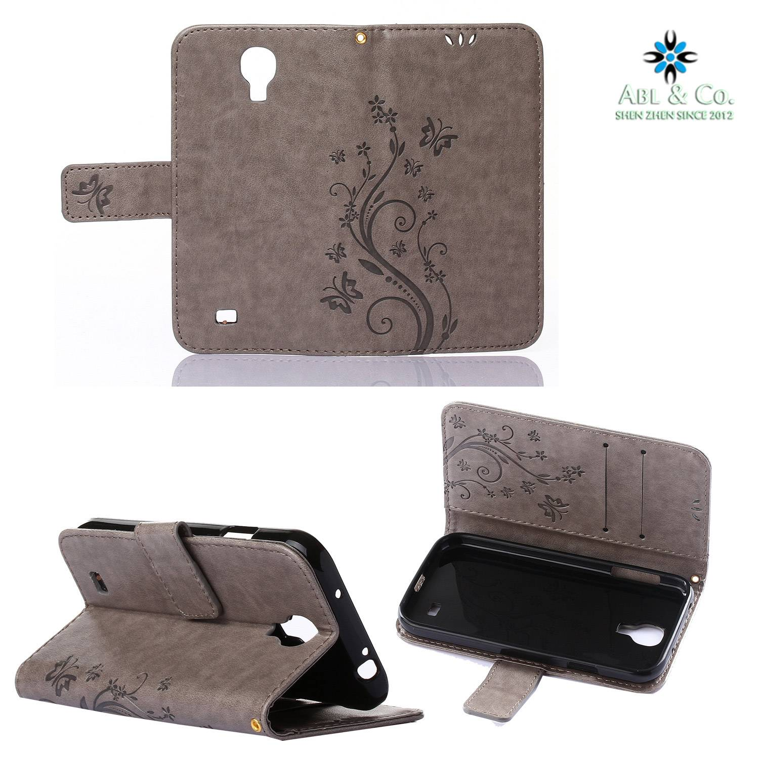 Leather Wallet Case For Samsung Mobile Phones Luxury Emboosed Pattern Phone bag