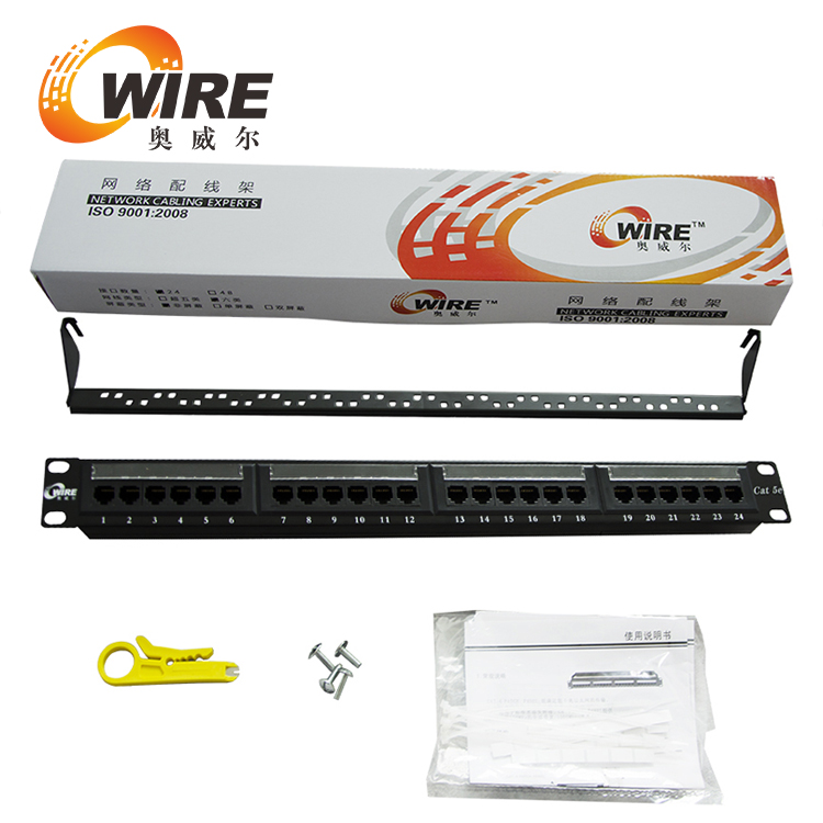 12 Port UTP CAT5e Wall-Mount Mini Patch Panel