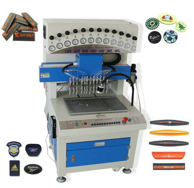 Soft PVC Rubber Patch Making machine , PVC labelling making machine