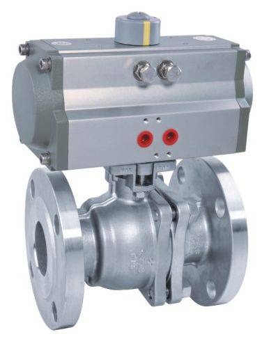 Pneumatic high platform flanged ball valve