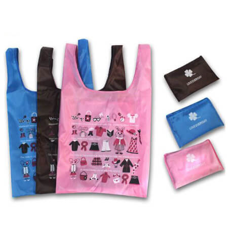210D polyester promotional shopping bag
