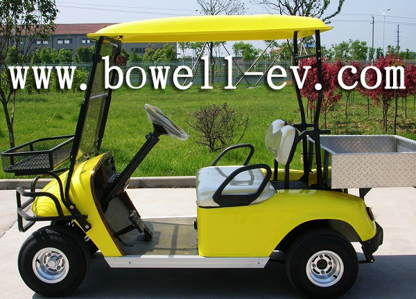 2 seat golf car with cargo box
