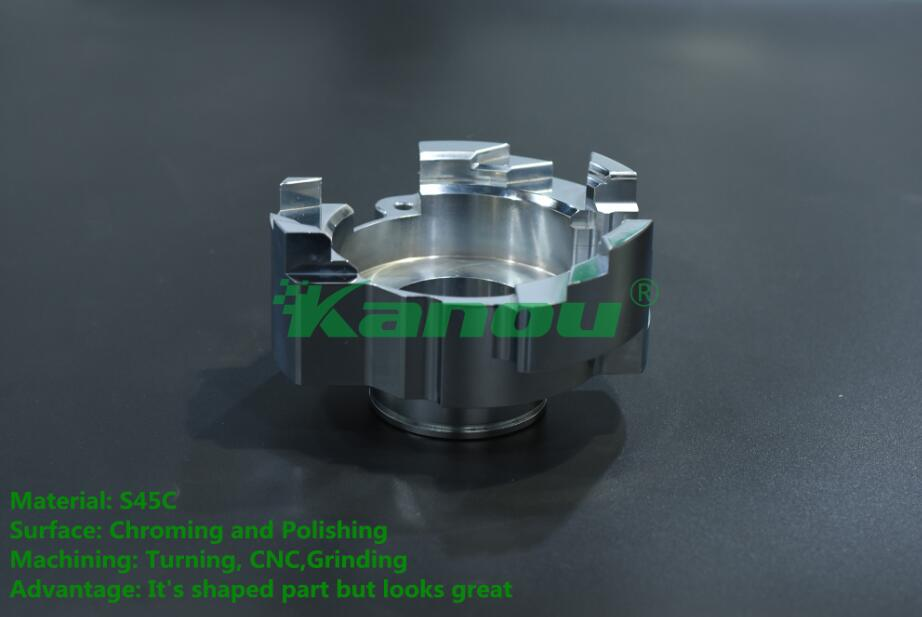 5-axis machining CNC turning part with Chromeplate