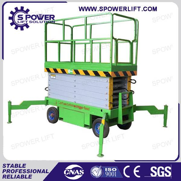 cleaning equipment electric small scissor lift platform
