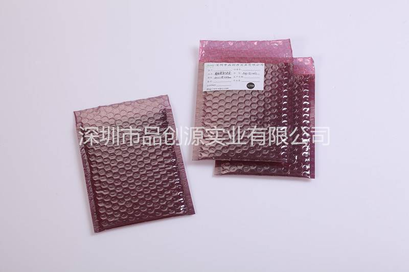 Red buffering antistatic composite bubble bags