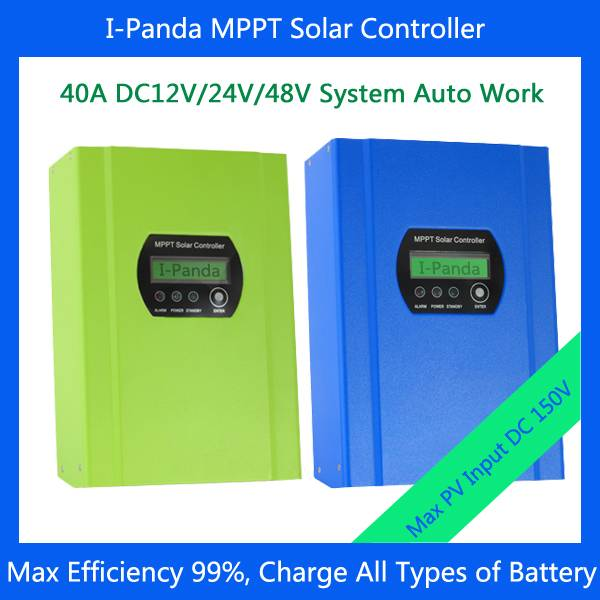 CE RoHS 40A MPPT solar battery controller LCD 48V 40A charge controller