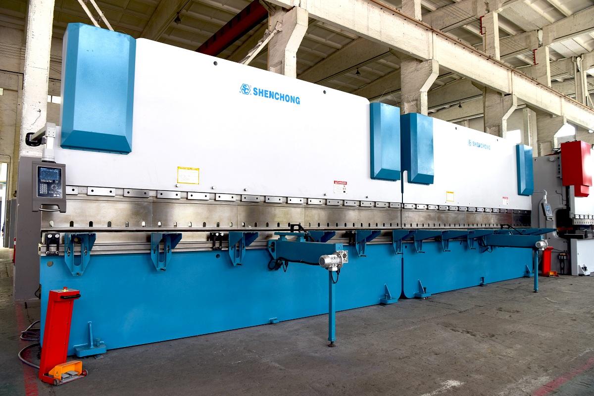 CNC hydraulic press brake 2-Tandem 300T6000 DELEM DA52 for sheet metal fabrication