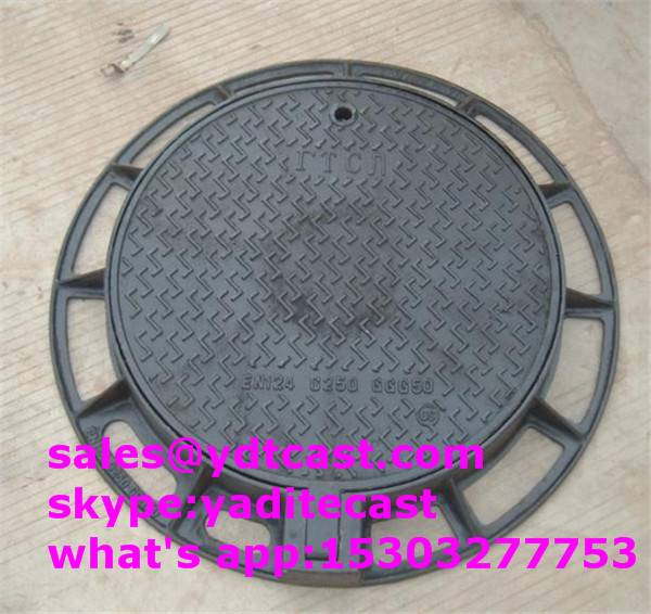 600*600 ductile iron manhole cover circle type