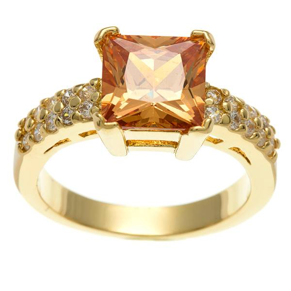 CZ Ring in 18K gold