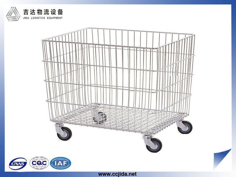 Folding steel storage cage mesh