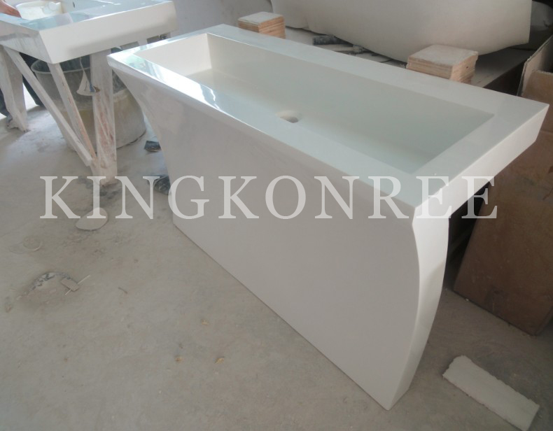 solid surface bathroom free standing basins