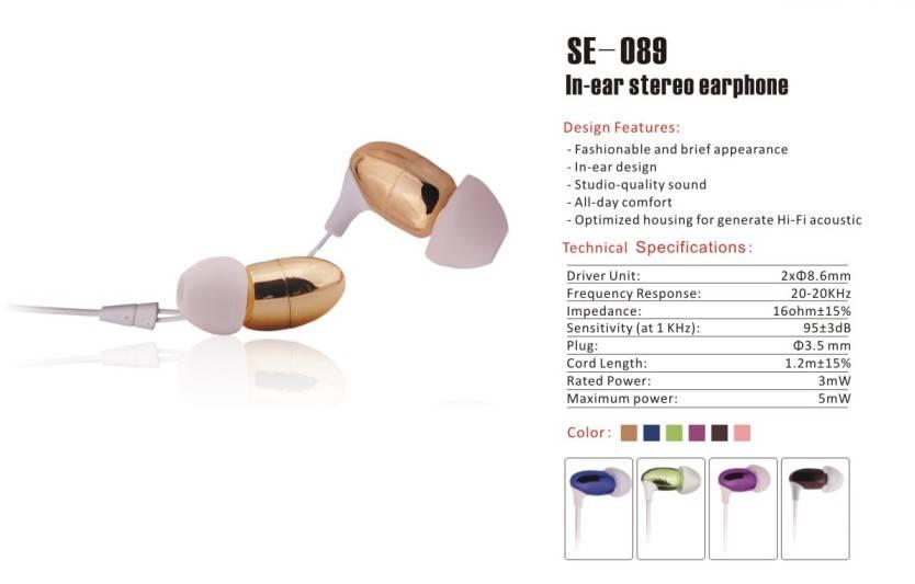 In-ear stereo earphone(SE-089)