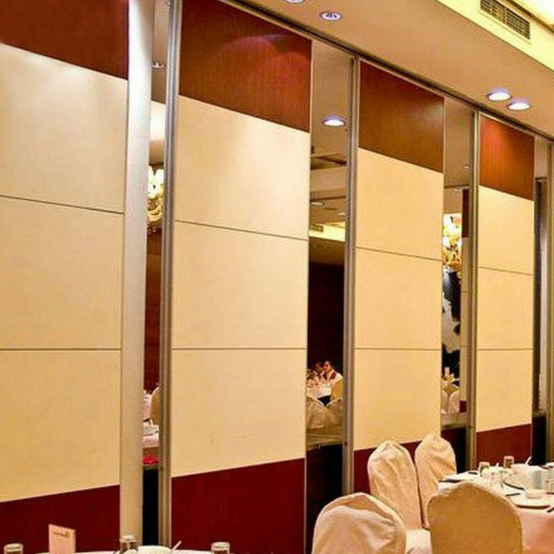 Interior Sliding Wooden Material Aluminium Frame Restaurant Movable Partition Wall
