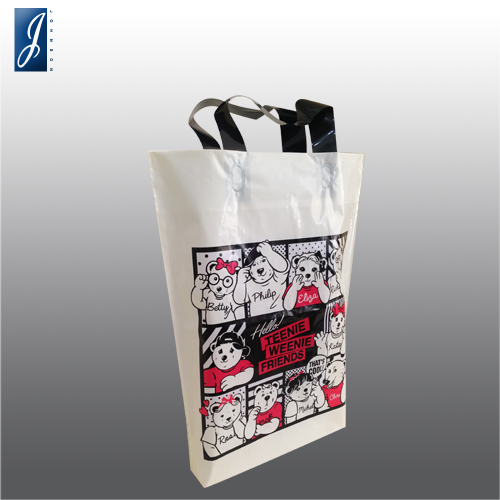 Customized medium plastic shopping bag for WINNIE