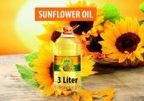 Refined sunflower oil 3l bottle