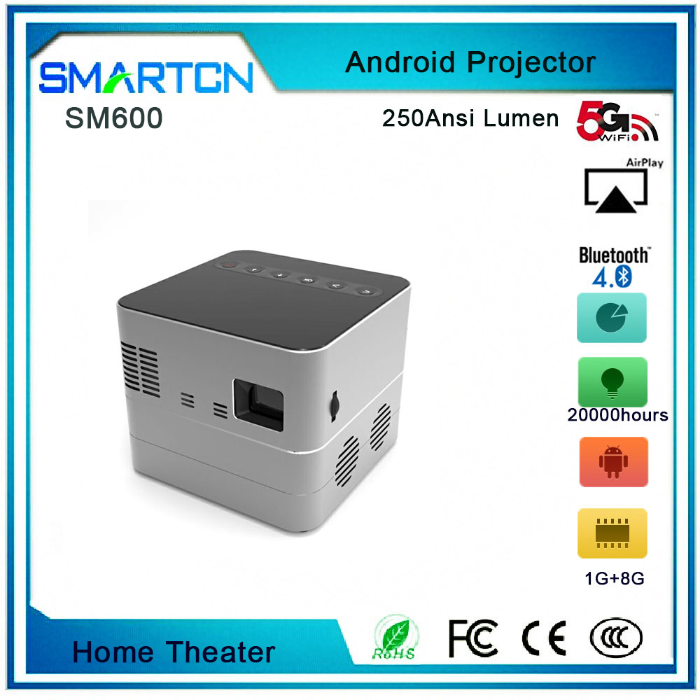 Android 5.0 Mini LED Projector for home tharater projector