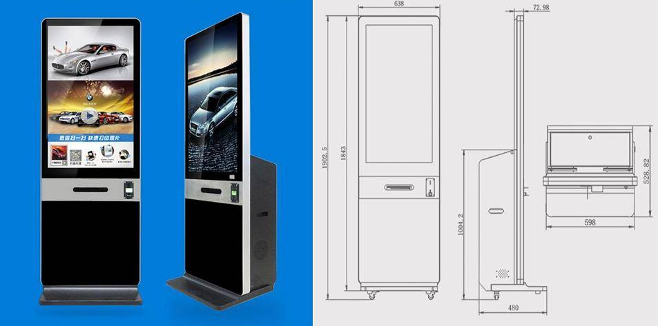 42 Inch LCD Advertising Displayer Touch Monitor Sales Assistant Monitor