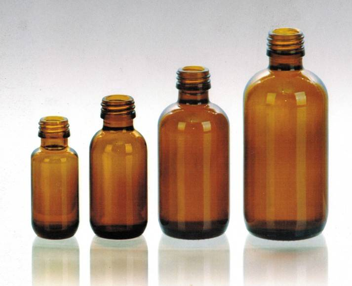 amber oral liquid glass bottles