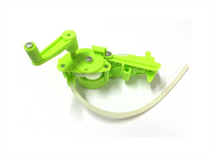 Gear box for hand bubble toys