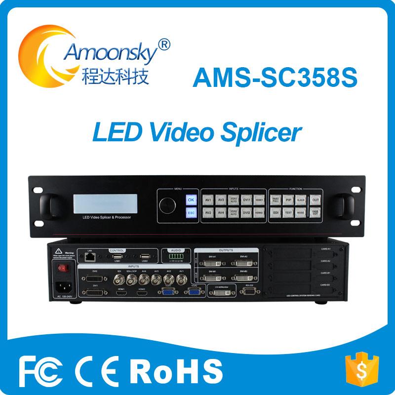sdi sc358s led video display processor video splicing processor outdoor full color led screen