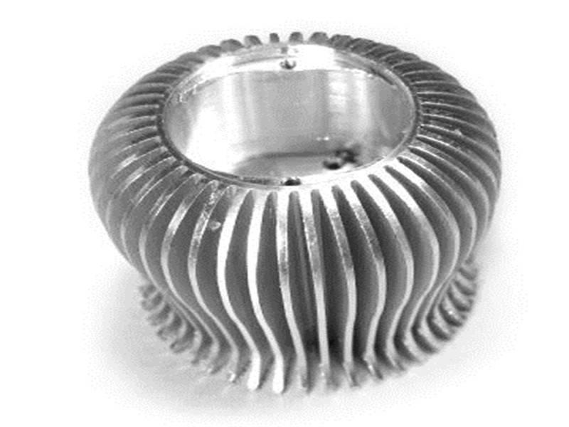 cnc machined aluminum led heatsink extrusion