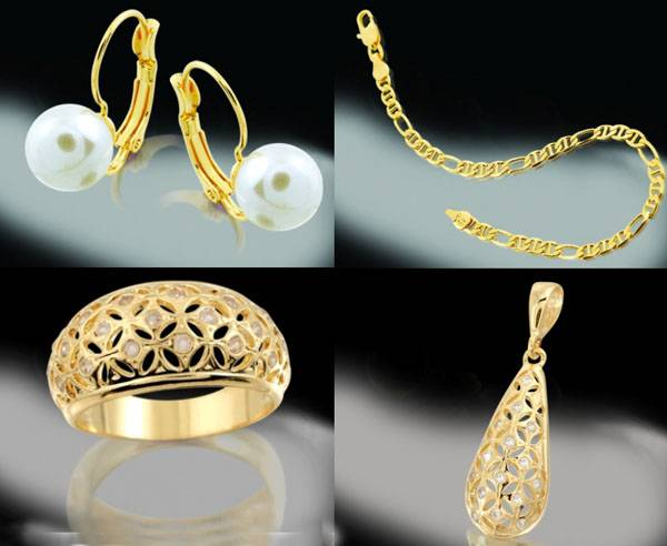 Gold plated jewelry 18 k