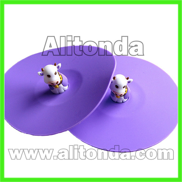 Custom soft cute cartoon animal silicone cup cover