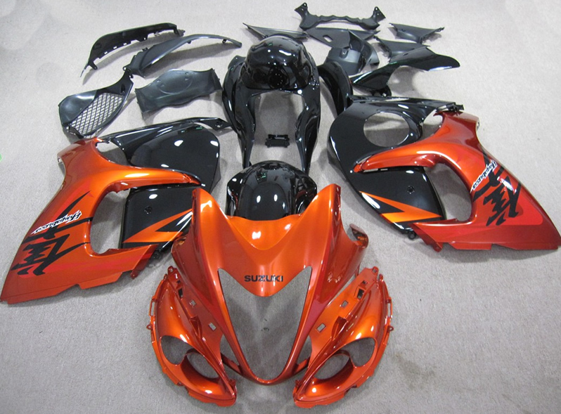 Hayabusa GSX-1300R 2008 to 2016 full set replacement Orange Black injection abs fairing kits