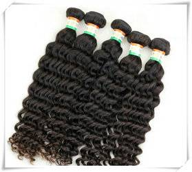 human hair extensions deep wave hair weft 8-30inch