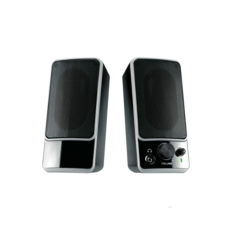 Hot-sale new arrival 2.0 USB multimedia PC plastic speaker