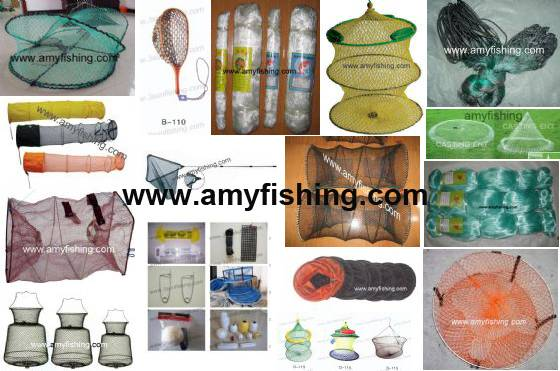 fishing net, landing net, crab net, keeping net, shrimp net, pe net, NYLON MULTIFILAMENT, DOUBLE KNE
