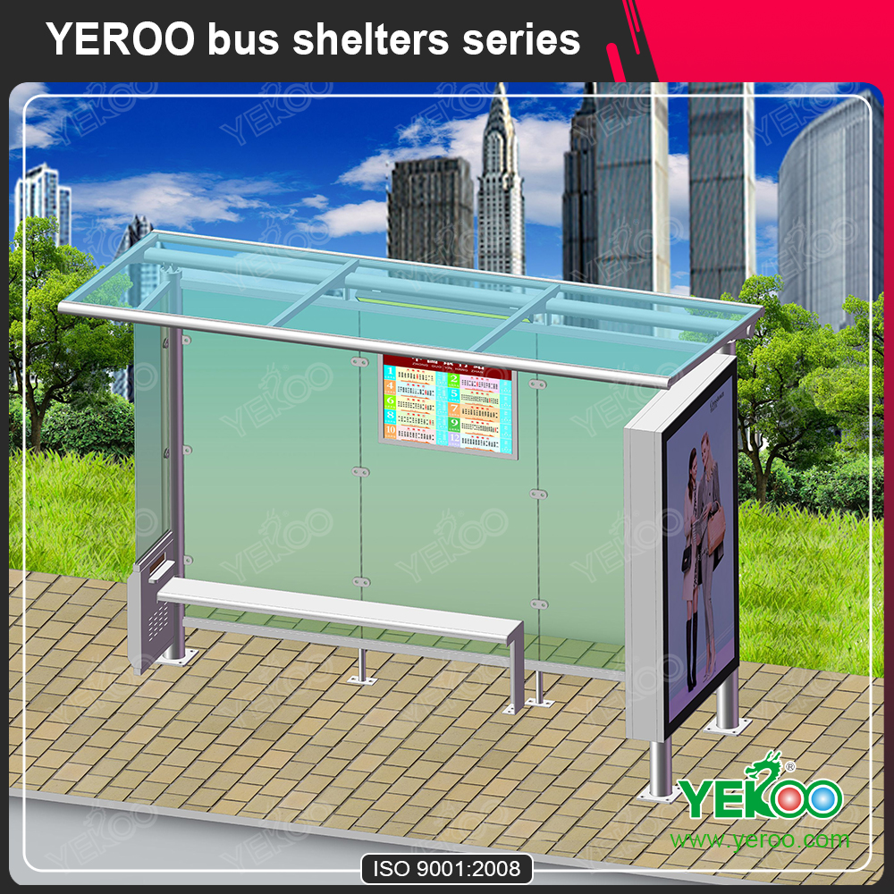 Customized Bus Shelter Advertising Design Manufacture