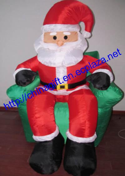 1.8 Meter Christmas Inflatable Santa Claus on Sofa