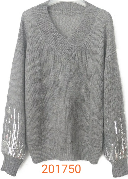 fashion sweater with sequins long sleeve