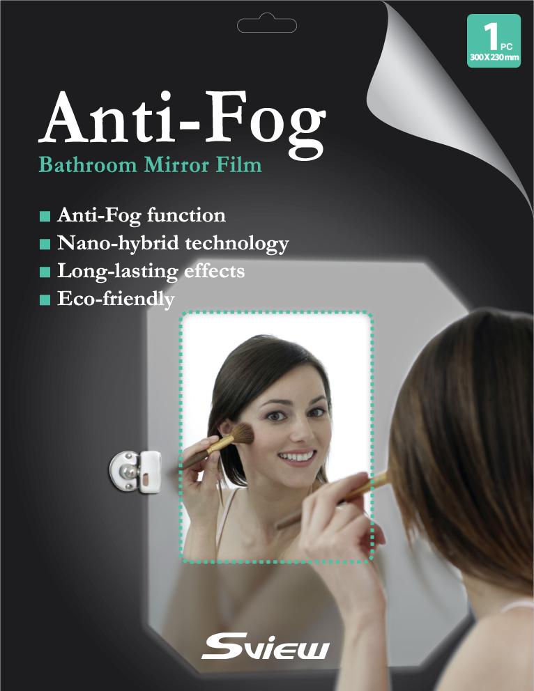 Anti-Fog Film for Bathroom Mirror