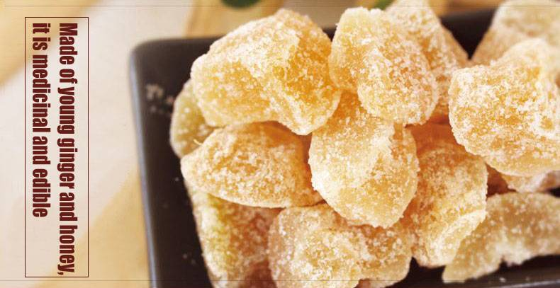 soft candied ginger, green food from origin Weihai, China