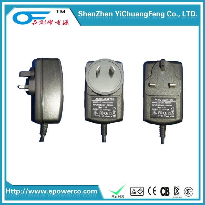 Wall Power Supply/Portable power supply 5V4A/24V1.5A/12V3A/9V3A with Through the FCC UL SAA GS KC CE