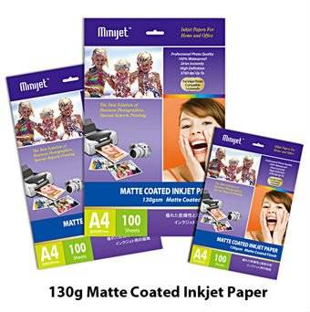 Inkjet Matte coated photo paper 108,128,180gsm (Compatible with inkjet printers)