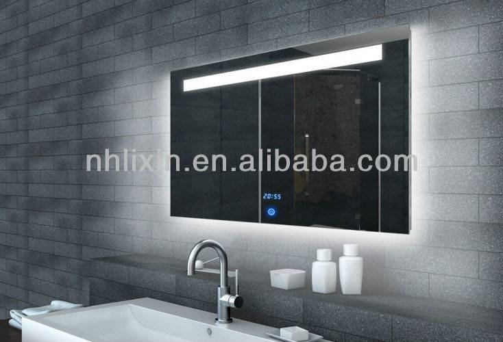 LED Bath Fogless Mirror With Clock