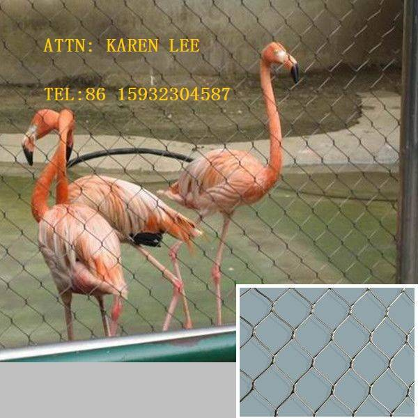 X-tend Inox Wire Rope Mesh For Zoo Animal