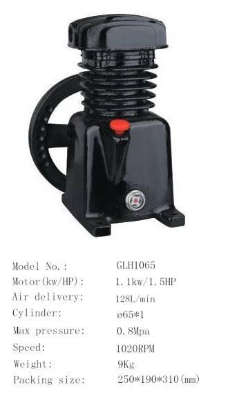 GLH1065 1.5HP 128L/Min air compressor iron pump head